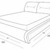Кровать Беатриче размеры