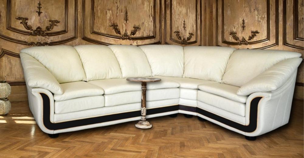 Кожаный угловой диван ОЛИМПИУС